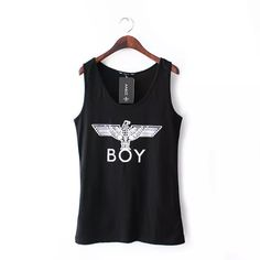 2015 Summer New Lady Elegant Snow Eagle Letter Print Cotton T shirt Women's Sleeveless Pullover Tank Tshirt Causul Tops CT413 | PinkPenguinBoutique