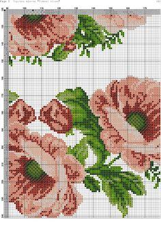 Прелепе булке на везу. Cross Stitch Rose, Stitch 2, Cross Stitch Flowers, Cross Stitch Charts, Cross Stitch Patterns, Flower Branch, Pattern Fashion, Cross Stitching, Crochet Stitches