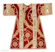 This liturgical robe is made of embroidery, silk and metallic thread on linen plain weave and velvet dates back to 1450-75. UGA News Service...