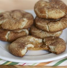 Caramel-Filled Snickerdoodles Source: the-baker-chick