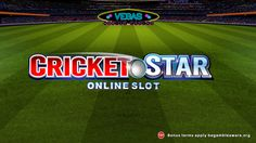 #Cricket fan? Want to win in 243 ways? Play Cricket Star #slots at Vegas Mobile Casino on your mobile devices now
