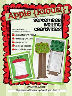 Publish and display your student's writing with these back to school themed writing craftivities! This printable includes 2 different crafts and . Back To School Activities, Teaching Activities, Teaching Writing, Teaching Kindergarten, Teaching Kids, Classroom Activities, School Ideas, Expository Writing, Persuasive Letter