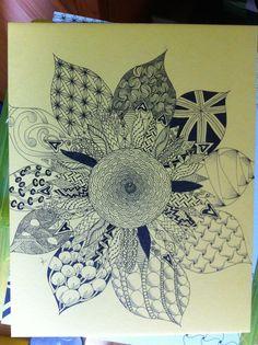Zentangle inspired Sunflower. My personal design