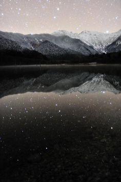 And the stars looked down on the waters below, and waved to their twinkling friends smiling up at them from the depths