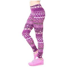 Women Fitness Leggings, Fashion Legging Aztec Round Hombre Printing, Yoga Pants, One Size(Sm-Med)