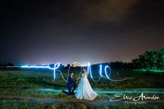 Nightshoot with light painting Light Painting, Neon Signs, Photography, Wedding, Valentines Day Weddings, Photograph, Fotografie, Photoshoot, Weddings