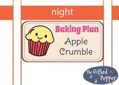 Erin Condren planner stickers [Printable], Baking Plan