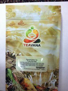 Teavana Fruta Bomba: Green tea Rooibos blend w/peach, apple, papaya,carrot, lemongrass. On offer in KeenTeaThyme's store: $6.00