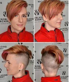 Short Hair Cuts, Short Hair Styles, Shaved Undercut, High Fade Haircut, Buzzed Hair, Half Shaved Hair, Undercut Women, Bald Women, Pixie Haircut