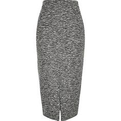 Grey woven split front pencil skirt - tube / pencil skirts - skirts - women