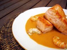 Salmón con crema de cigalas, una excepcional receta - El Aderezo - Blog de Recetas de Cocina