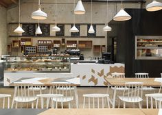 geometric patterns. Breaking off. of paper and things: dwell   cafe in london