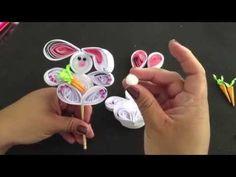(DIY) Conejito de filigrana de Papel - YouTube