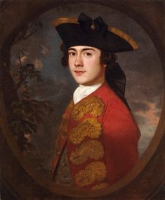 """""""Portrait of a Gentleman in a Red Jacket"""" by Sir Joshua Reynolds, c1748, private collection."""