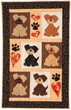 Amo los perros de perrito edredones por Dionne
