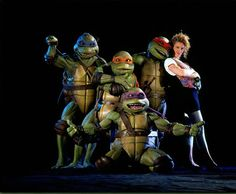 Teenage Mutant Ninja Turtles. Not a bad movie for its time. Michael bay better not frock up the new movie.