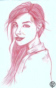 Portrait girl. Training/study.  Art: Leandro Sans. Site: leandrosans.flavors.me Instagram: @leandro_sans