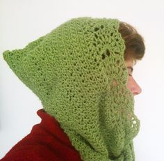 PDF CROCHET PATTERN  Lace crochet hooded by CristinaMyCrochet, $4.50