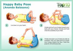 happy baby yoga pose
