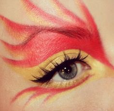 Girl on fire makeup
