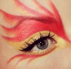 Girl on fire makeup