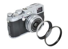 Kiwifotos Lens adapter tube LA-58X100 provides 58mm filter mount for FUJIFILM X100 camera #Fuji_X100, #black