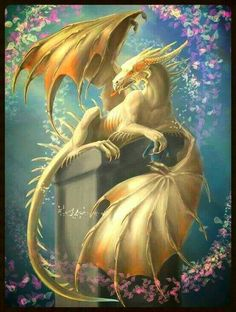 Fantasy Diamond Painting Kits that include Fairies and Dragons and all things fantasy. Dragon 2, White Dragon, Mystic Dragon, Fantasy Kunst, Fantasy Art, Magical Creatures, Beautiful Creatures, Dragon Medieval, Cool Dragons