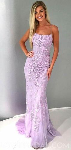 Prom Dress Beautiful, Mermaid Spaghetti Straps Lilac Tulle Prom Evening Dress with Appliques, Discover your dream prom dress. Our collection features affordable prom dresses, chiffon prom gowns, sexy formal gowns and more. Find your 2020 prom dress Lilac Prom Dresses, Prom Dresses For Teens, Backless Prom Dresses, Cheap Prom Dresses, Strapless Dress Formal, Long Dresses, Sexy Dresses, Dance Dresses, Summer Dresses