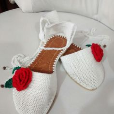 Sandalias en Crochet Hecho a Mano. Tejido en crochet. Hecho en Colombia. #crochet#tejidoamano#teje - patyartesanal