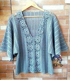 Items similar to Made to order summer women crochet blouse. Linked cotton crochet on Etsy Crochet Tunic Pattern, Crochet Shirt, Crochet Jacket, Crochet Poncho, Cotton Crochet, Knit Crochet, Mode Crochet, Crochet Summer Tops, Crochet Fashion