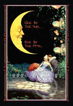 Whimsical Love and Romance Motto Print Man von DragonflyMeadowsArt