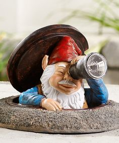 Another great find on #zulily! Peeping Gnome & Solar Telescope Figurine #zulilyfinds