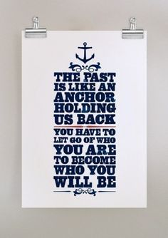 Anchor. (And let go of what others have done as well- to be honest this can be hard for me but I'm trying!)