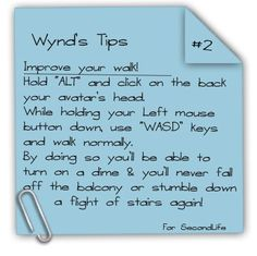 Wynd's Tips #2 - Improve your walk
