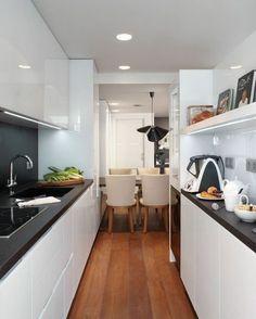 Small kitchen design ideas – how to make your kitchen space look Apartment Kitchen, Kitchen Interior, Kitchen Decor, Diy Kitchen, Inexpensive Flooring, Kitchen Flooring, Kitchen Tiles, Tile Design, Kitchen Remodel