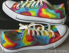 Adult sz 7-13 MADE to ORDER ... Tie-Dye Converse Sneakers Lo Top Diy Tie Dye Shoes, How To Dye Shoes, Tie Dye Converse, Converse Sneakers, Vans Shoes, Painted Canvas Shoes, Painted Sneakers, Buy Shoes, Me Too Shoes