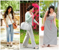 spring outfits | #ootd #crochet #pastels #stripes