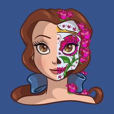 In todays Daily Disney Tee we are taken another look at the Disney Princess Sugar Skull series designed by Ellador. 4 new Disney Princesses has been released. To see even more Disney tees click HER...