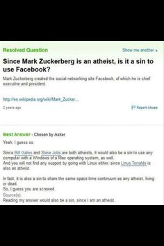 and since the father of modern computing, Alan Turing was an atheist, maybe religious people should go back to whatever book they worship,