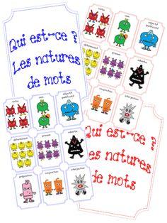 les personnages natures des mots de la m thode retz s school french primary ecole. Black Bedroom Furniture Sets. Home Design Ideas
