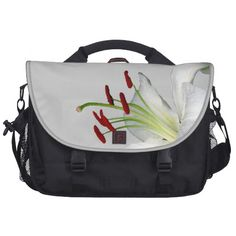 Lily, White and Red Laptop Bag