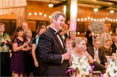 Toast | Purple Rustic Holiday Adaumont Farm Wedding | Pasha Belman Photography | Leigh Pearce Weddings, Greensboro North Carolina Wedding Planner, Stylist, Coordinator