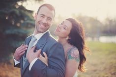 How These Tattooed Brides Showed Off Their Ink #refinery29  http://www.refinery29.com/brides-tattoos#slide9