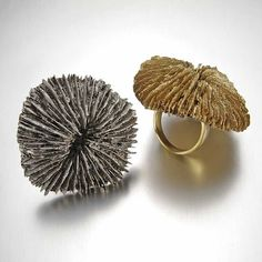 Fungi rings by Peggy Skemp. | if it's hip, it's here