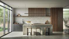 Kitchen Room Design, Modern Kitchen Design, Home Decor Kitchen, Interior Design Kitchen, Home Kitchens, Küchen Design, House Design, Humble House, Interior Exterior