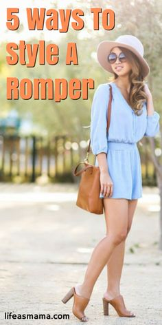 Think you can't pull off a romper? We think you can! Here are 5 easy ways using accessories like ankle boots and cute hats.