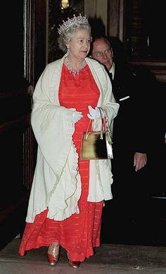 The Queen Wearing 'granny's Tiara' Attending A Gala Concert Of English Baroque Music At The Rudolfinium Theatre In Prague Czech Republic