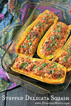 Cheesy Stuffed Delicata Squash: This is a super easy recipe that is meant to be mostly hands off. Yes, the stuffed squash need about an hour to cook in the oven but the prep work and putting them together takes all of about 10 minutes. If you are really organized and you prep this the night before or early in the AM, this could very easily be a yummy, comforting weeknight dinner that is primal and gluten free.
