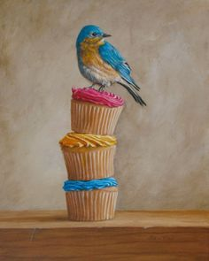 bluebird and cupcakes!