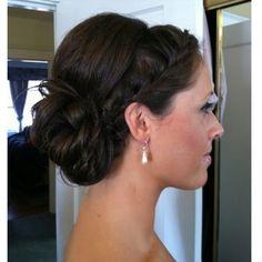 wedding hair updo with braids, a little bit like jessica albas famous updo